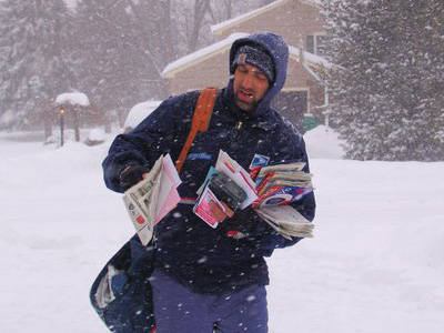 USPS Postal Worker in the Snow