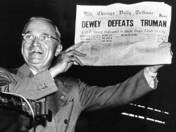 Dewey vs Truman and Now Romney vs Obama